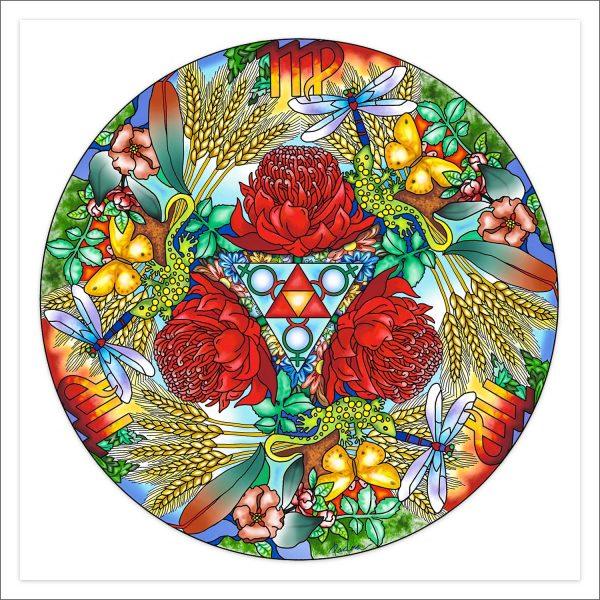 Astro Mandala Virgo by Deva Padma